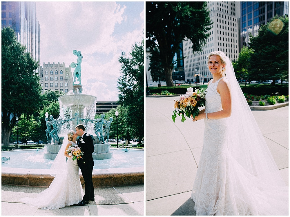 Bride and Groom | Downtown Indianapolis Wedding by Caroline Grace Photography & Jessica Dum Wedding Coordination