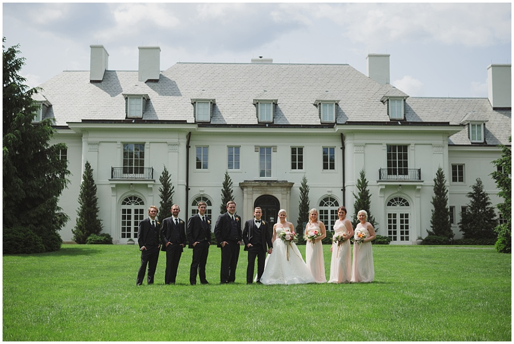 Bridal Party estate portraits | Ritz Charles Garden Pavilion Wedding by Stacy Able Photography & Jessica Dum Wedding Coordination