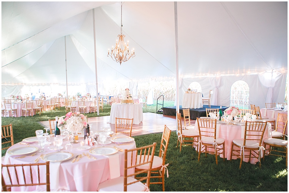 Blush and gold tent wedding | Family Farm wedding by SB Childs Photography & Jessica Dum Wedding Coordination
