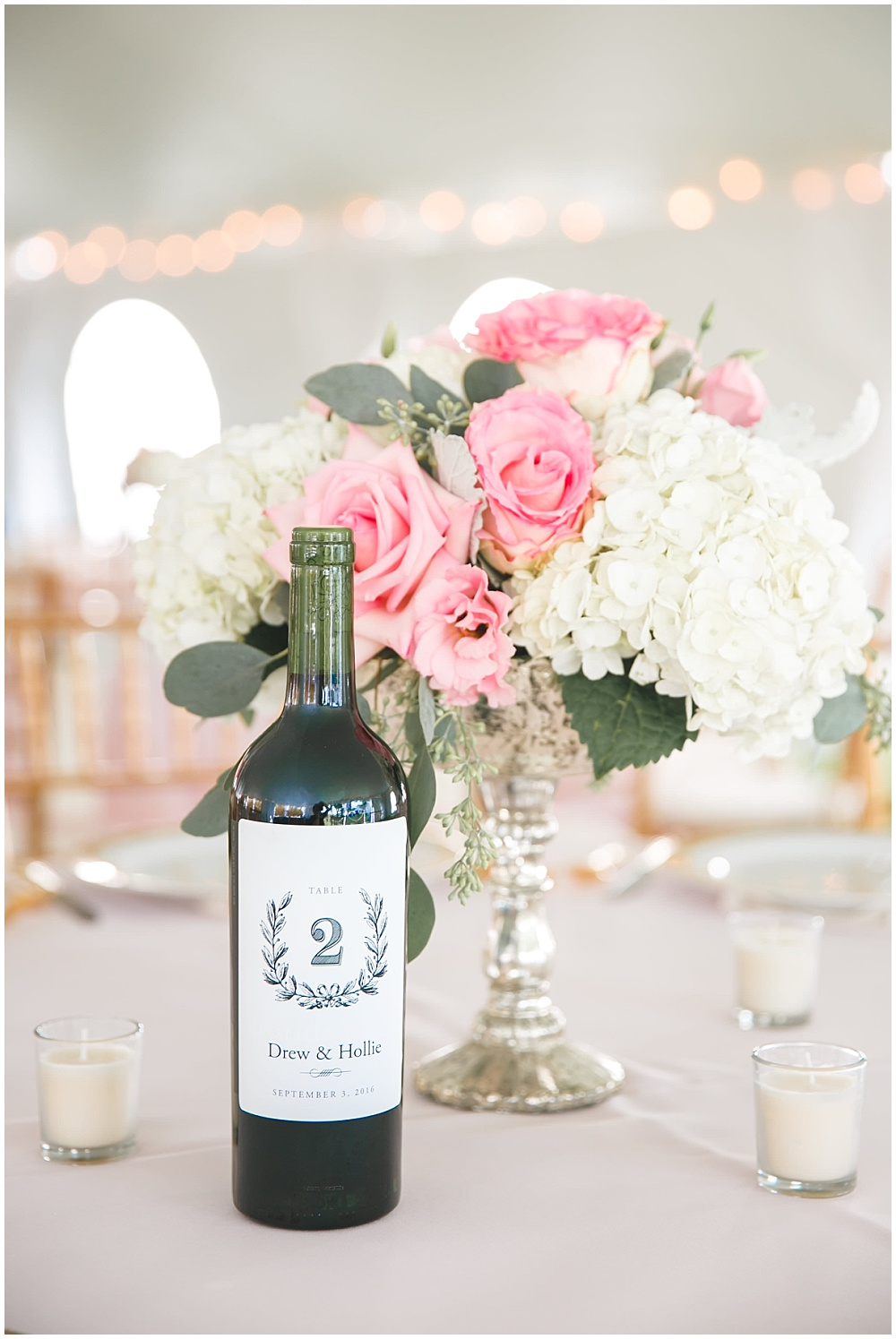 Wine bottle table numbers | Family Farm wedding by SB Childs Photography & Jessica Dum Wedding Coordination