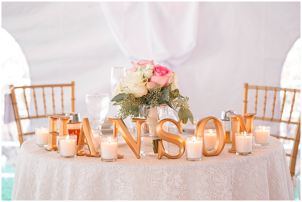 Blush and gold sweetheart table | Family Farm wedding by SB Childs Photography & Jessica Dum Wedding Coordination