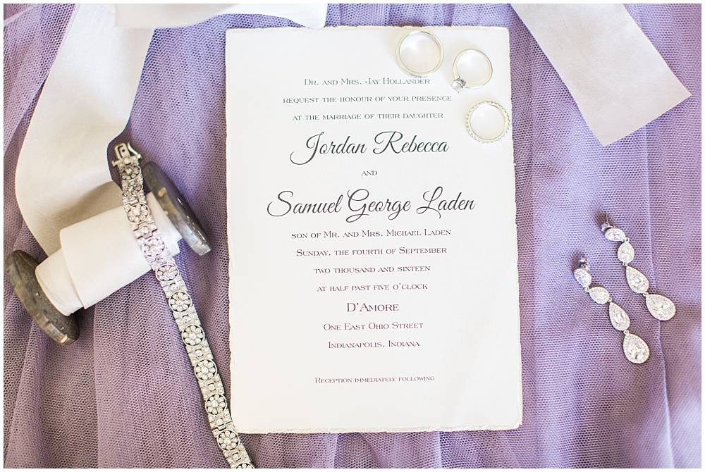 Simple wedding invitation suite and bridal jewelry details with silk ribbon | D'Amore Wedding by Ivan & Louise Images & Jessica Dum Wedding Coordination