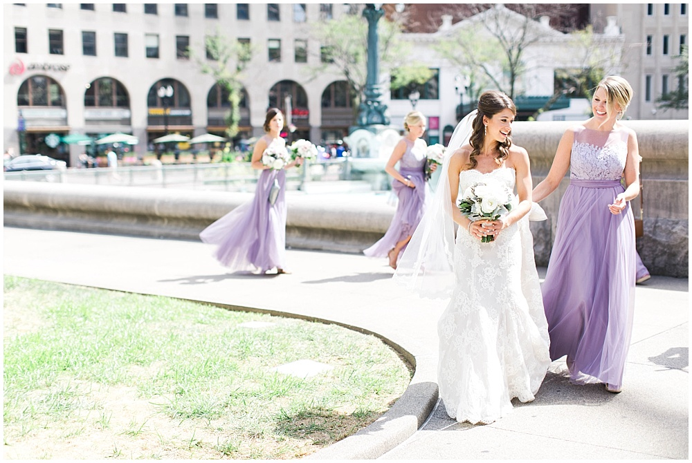 A Monique Lhuillier bride and her bridesmaids | D'Amore Wedding by Ivan & Louise Images & Jessica Dum Wedding Coordination