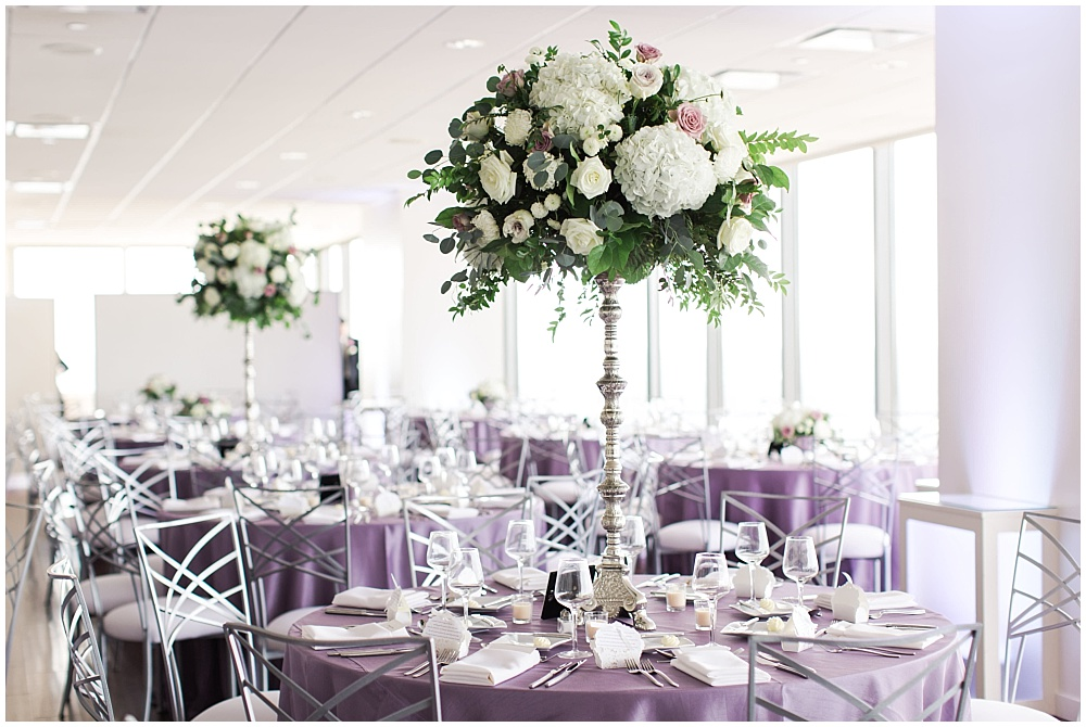 Purple, white and green wedding tablescape | D'Amore Wedding by Ivan & Louise Images & Jessica Dum Wedding Coordination