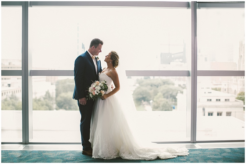 Bride and Groom portraits | Indianapolis Central Library Wedding by Jennifer Van Elk Photography & Jessica Dum Wedding Coordination