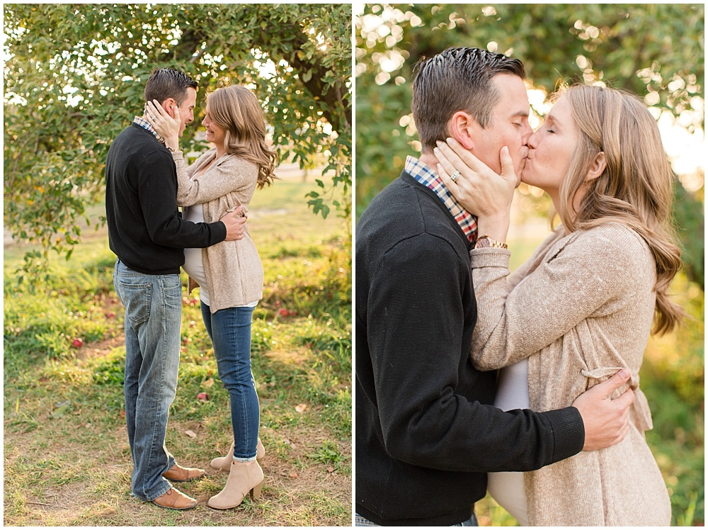 Fall maternity session at Tuttle Orchards by Sami Renee Photography