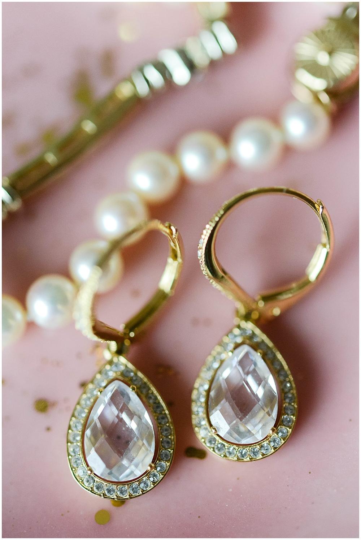 Gold bridal jewelry | Mustard Seed Gardens Wedding by Sara Ackermann Photography & Jessica Dum Wedding Coordination
