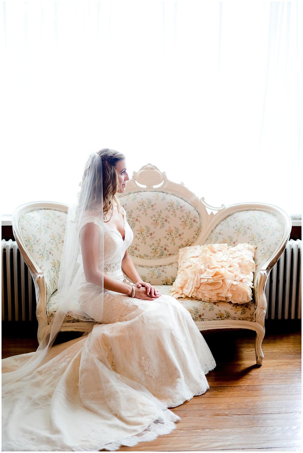 Soft bridal portrait | Mustard Seed Gardens Wedding by Sara Ackermann Photography & Jessica Dum Wedding Coordination