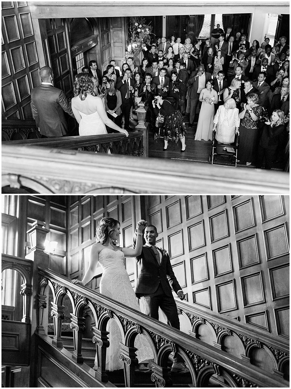 bride and groom entrance | Navy and Gold Wedding at Laurel Hall with Ivan & Louise Photography + Jessica Dum Wedding Coordination