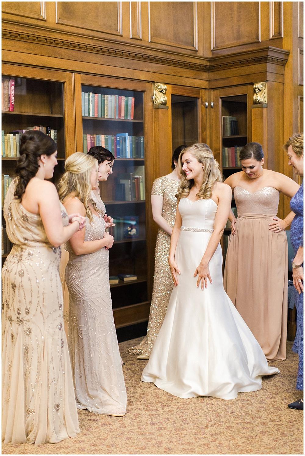 gold bridesmaid dresses | Ivan & Louise Images and Jessica Dum Wedding Coordination