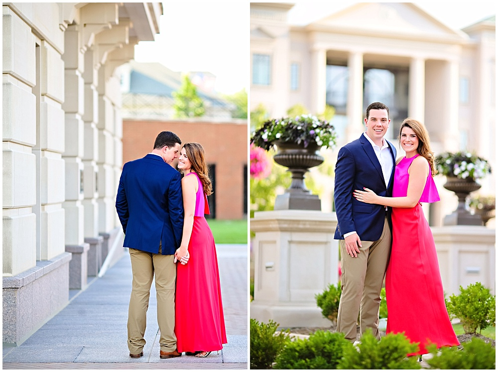 Pink dress engagement session outfit Carmel, Indiana Engagement Session | Jessica Strickland Photography