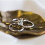 Wedding rings on gold dish   Laurel Hall wedding with Ivan & Louise Images + Jessica Dum Wedding Coordination