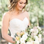 Lace wedding dress and white fall bouquet   Laurel Hall wedding with Ivan & Louise Images + Jessica Dum Wedding Coordination