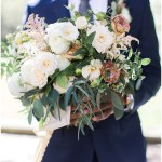 Fall bouquet and navy suit   Laurel Hall wedding with Ivan & Louise Images + Jessica Dum Wedding Coordination