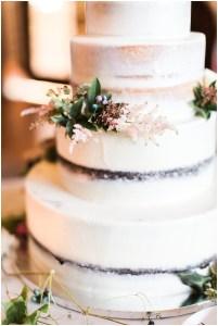 Naked wedding cake with fall foliage   Laurel Hall wedding with Ivan & Louise Images + Jessica Dum Wedding Coordination