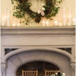 Wedding mantle foliage decor   Laurel Hall wedding with Ivan & Louise Images + Jessica Dum Wedding Coordination