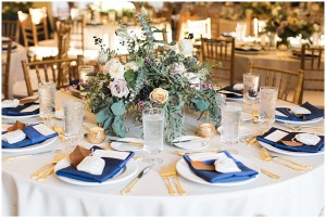 Navy and gold tablescape   Laurel Hall wedding with Ivan & Louise Images + Jessica Dum Wedding Coordination