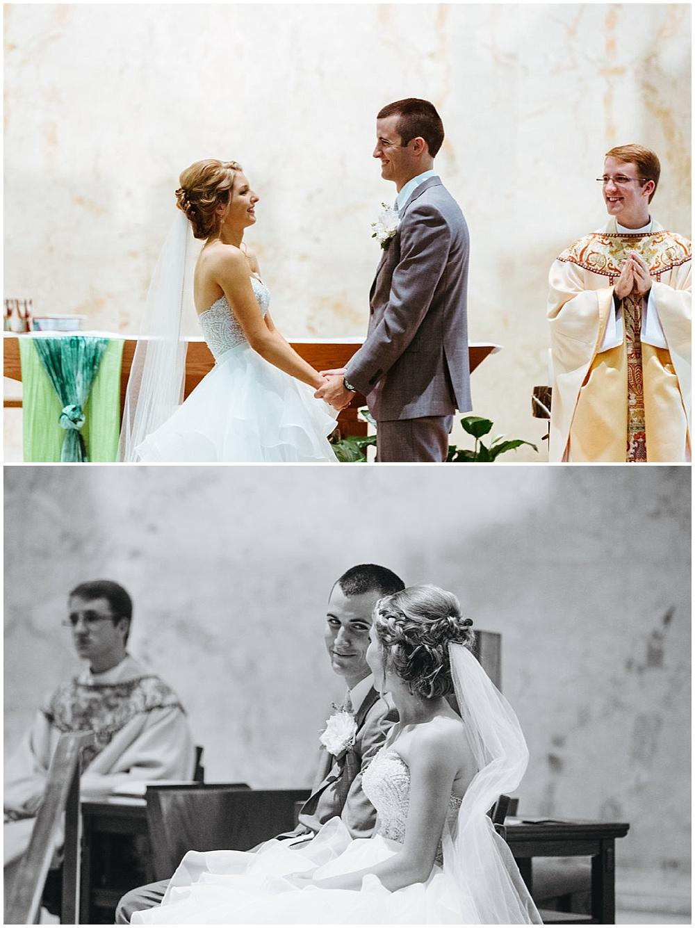 ceremony | Chicago urban rustic wedding| Sandra Armenteros Photography | Jessica Dum Wedding Coordination
