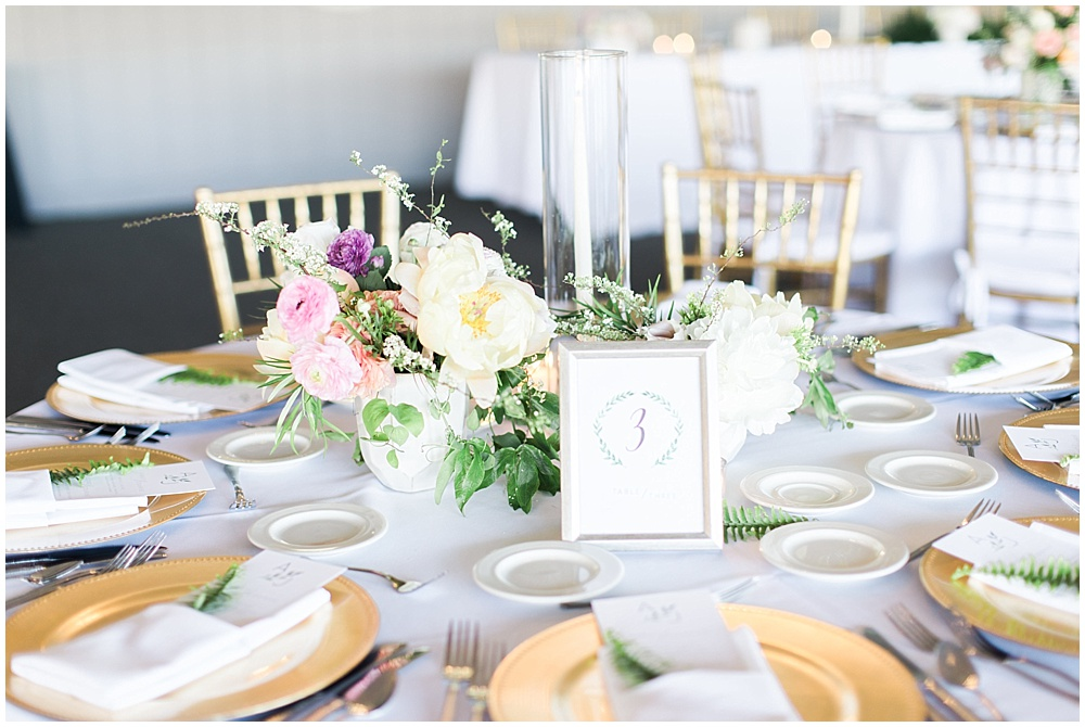 gold and green tablescape, Spring floral + gold wedding | Ivan & Louise Images | Jessica Dum Wedding Coordination