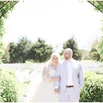 Bride and groom outdoor garden portraits, navy and pink southern wedding | Ivan & Louise Images and Jessica Dum Wedding Coordination