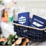 Wedding Koozies, navy and pink southern wedding | Ivan & Louise Images and Jessica Dum Wedding Coordination