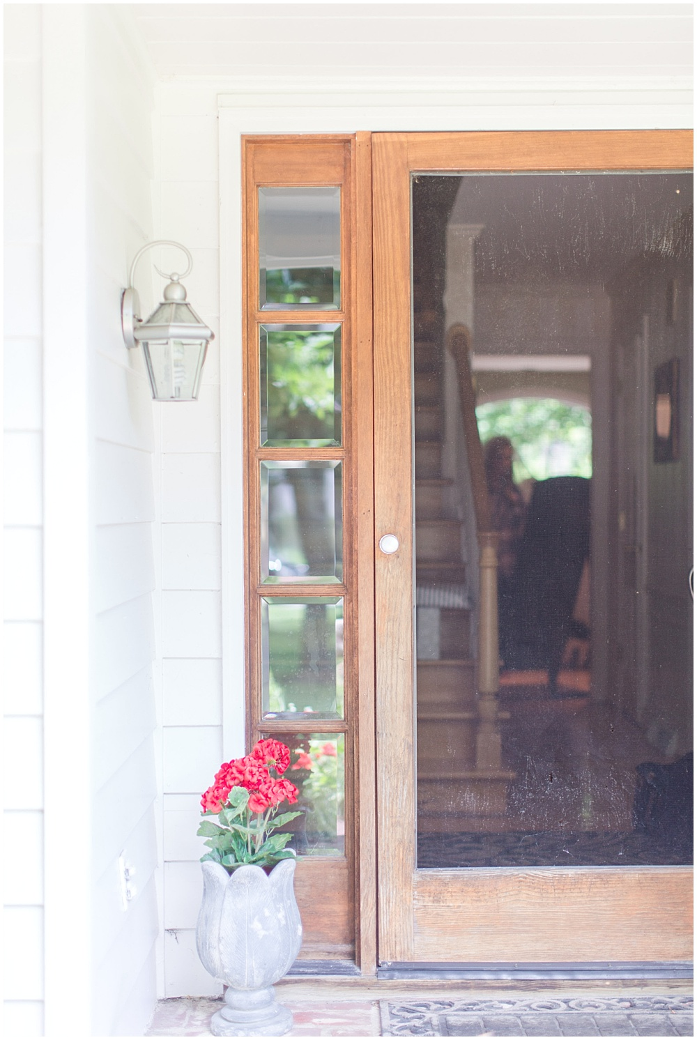 Rustic front porch with wooden screen door | Sami Renee Photography + Jessica Dum Wedding Coordination
