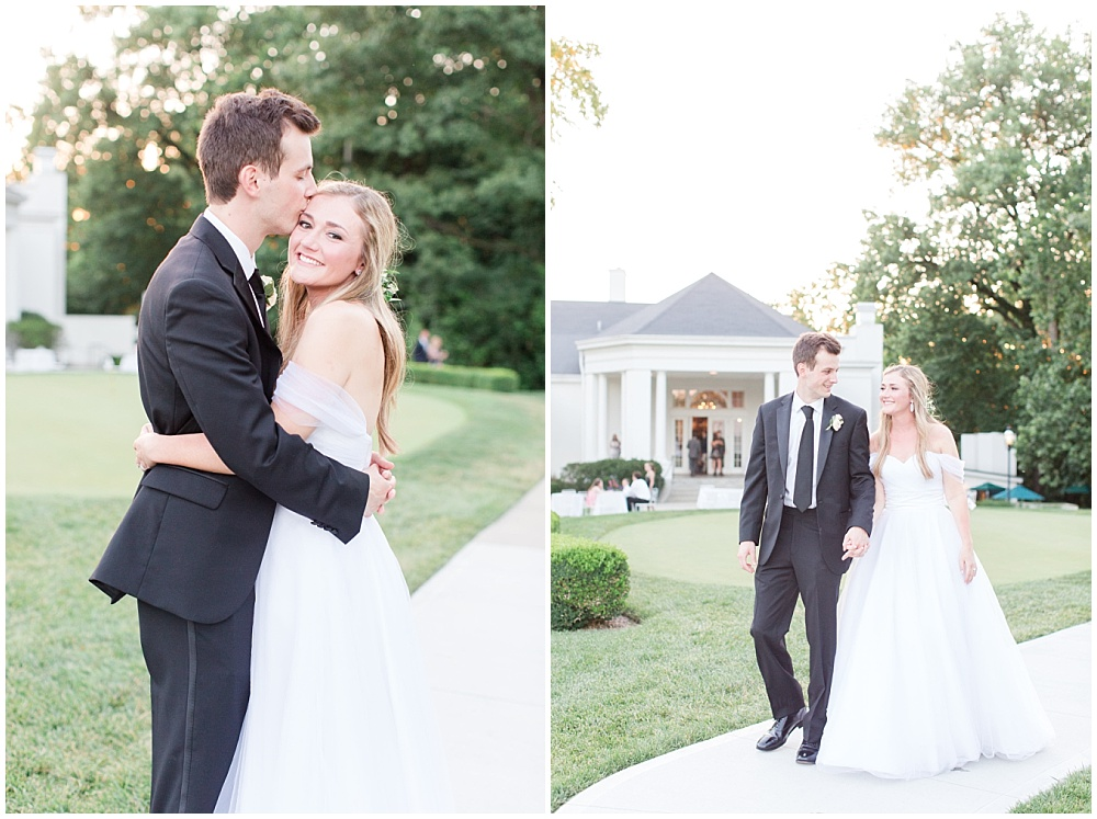 Bride and Groom sunset photos; country club wedding | Sami Renee Photography + Jessica Dum Wedding Coordination