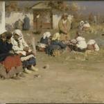 Abram Archipov: Före mässan, 1892   Olja på duk, 58 x 114 cm   Ryska museet, S:t Petersburg   Proveniens: 1908 från V. von Meck, Moskva   (Zj-4390)