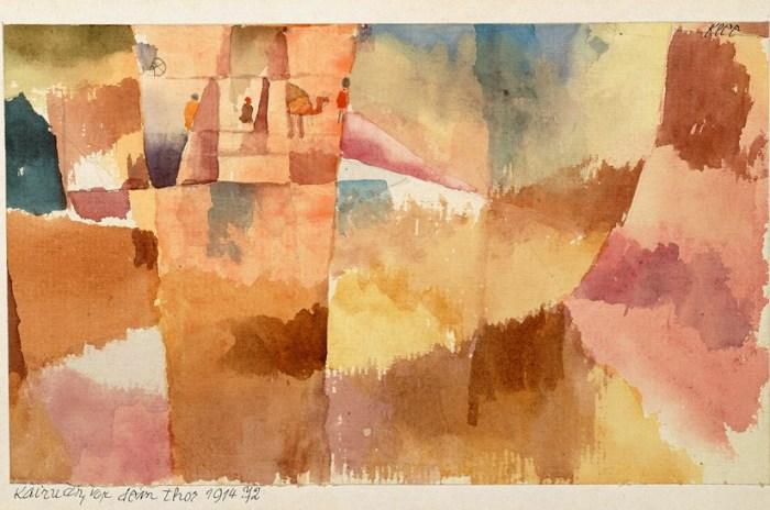 Paul Klee: Kairuan, framför porten, 1914. Foto: Moderna museet