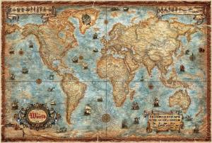 world map antique 3