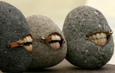 Zip your lips stones!