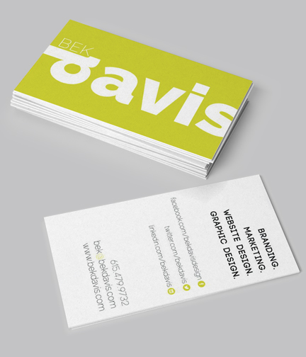 Business Card Design: Bek Davis