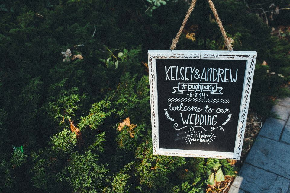 Handlettered Wedding Sign