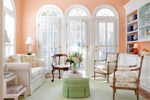 Peach parlor room for warm undertones