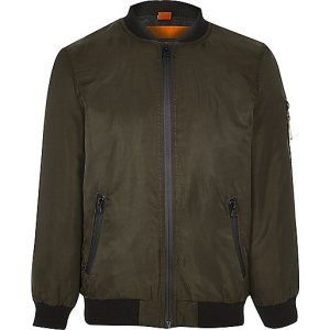 Boys khaki bomber jacket