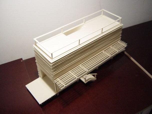 Modell Schrägaufsicht Dachterrasse