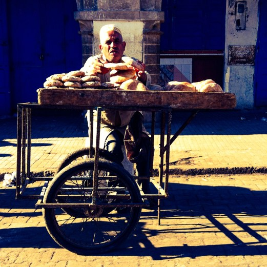 bread vendor, Essaouira, Morocco