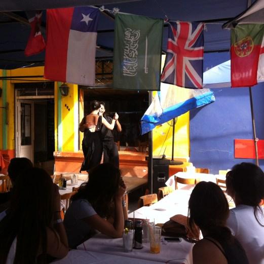 Tango dancing in La Boca - Buenos Aires