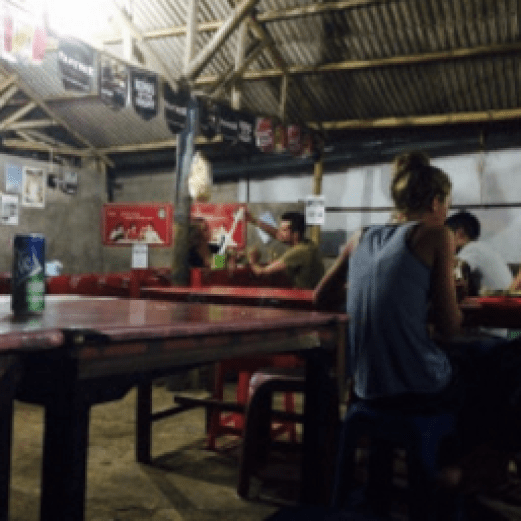 Lombok Island Kuta cheap warung