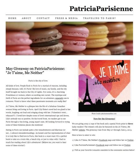 PatriciaParisienne article