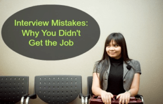 interview mistakes