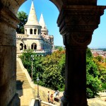 Glimpse of Fisherman's Bastion (Halászbástya)