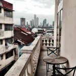 Authentic balcony view from Las Clementinas Hotel in Panama City