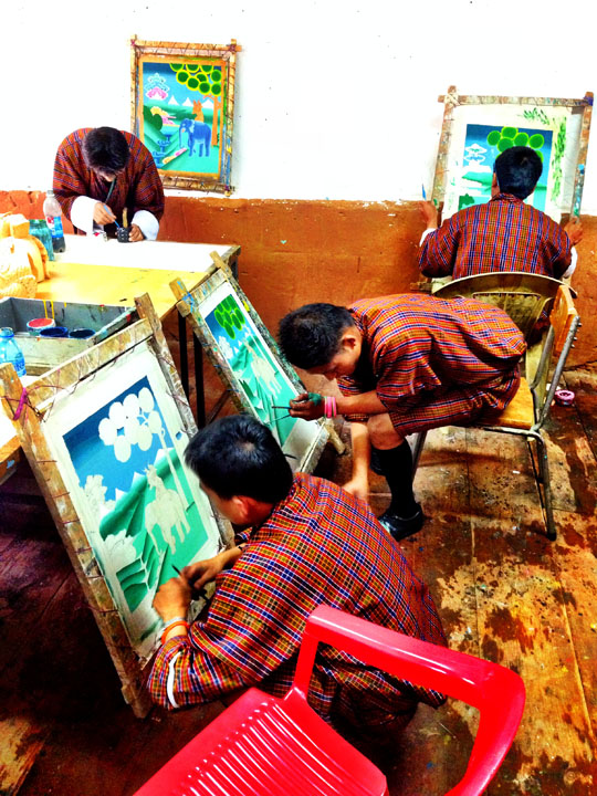 bhutan thimphu art school
