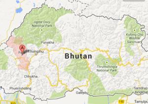 map paro bhutan