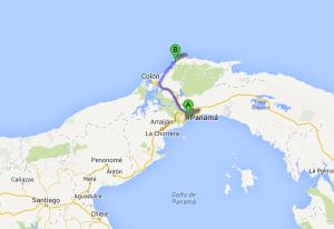 Portobelo panama map