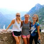 Kate, Bronte, and me hiking Montserrat