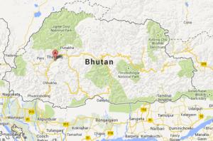 thimphu bhutan map