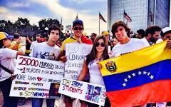 Friends and I at the LA Venezuela protests