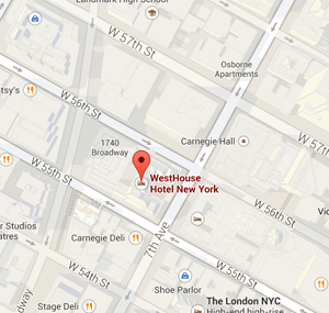 map westhouse new york hotel